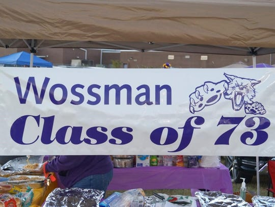The WHS Class of 1973 tailgating tent is always a popular
