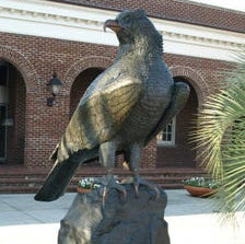 Seahawk statue that was stolen from in front of Warwick Center on July 5 has been located and returned to campus