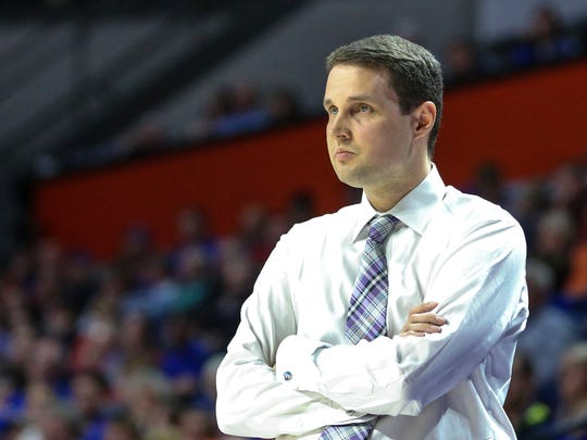 LSU head coach Will Wade during the first half of an