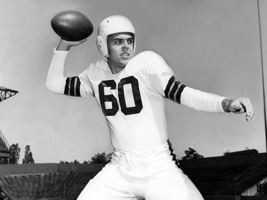 Quarterback Otto Graham went to Northwestern and avoided playing for the Lions, who drafted him. That's two kinds of smart.