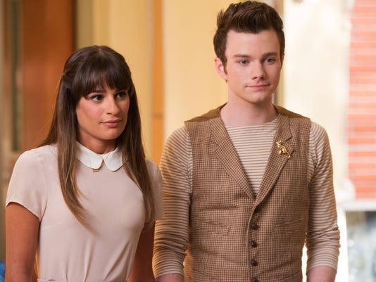 Lea Michele Chris Colfer