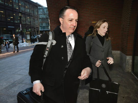 Barry Cadden arrives at the federal courthouse in Boston