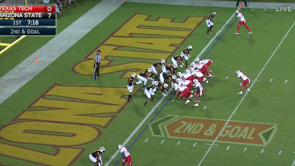 Texas Tech rarely lines up under center. In this case,