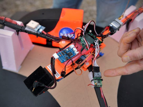 Jahnke, an electrical engineer, built the tricopter