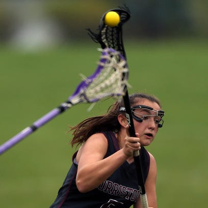Morristown's Nicole Ferrara shoots and scores during
