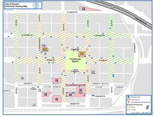 The new downtown Newark parking zones