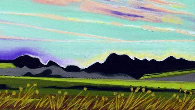 """""""Baskett Slough Sunset"""" by Diane Trevett was part of last year's show by Artists in Action at the Capitol lobby."""