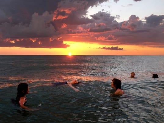 sunset beach #istock