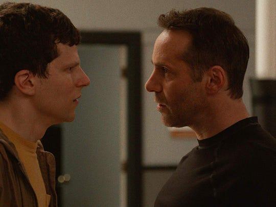 "Jesse Eisenberg, left, and Alessandro Nivola in ""The Art of Self-Defense."""