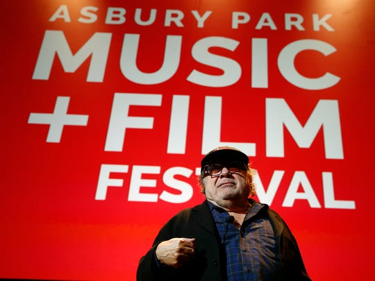 Actor and Asbury Park native Danny DeVito arrives for his Asbury Park Music + Film Festival show at the Paramount Theater in Asbury Park Saturday, April 28, 2108.