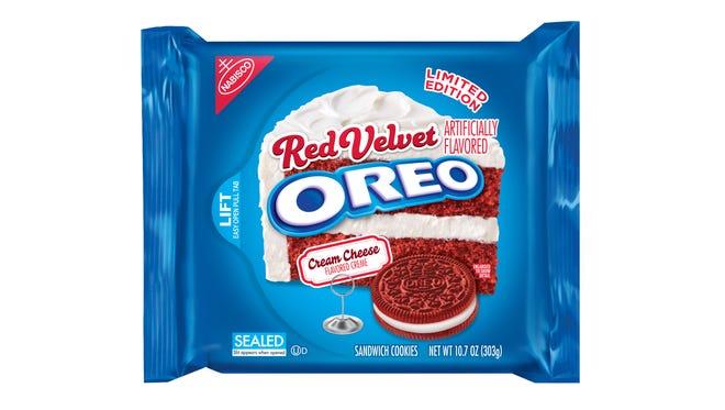 Red Velvet OREO cookies coming in February.