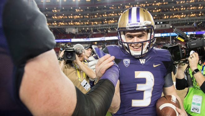 Quarterback Jake Browning led Washington to a Pac-12 championship and a berth in the College Football Playoff last season despite a shoulder injury that required offseason surgery.