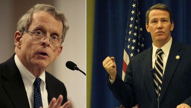 Mike DeWine, left, and Jon Husted.