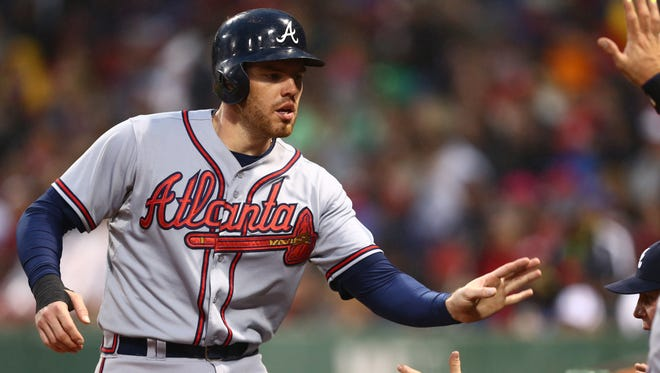 Freddie Freeman's 234 consecutive games played streak will end on Thursday.