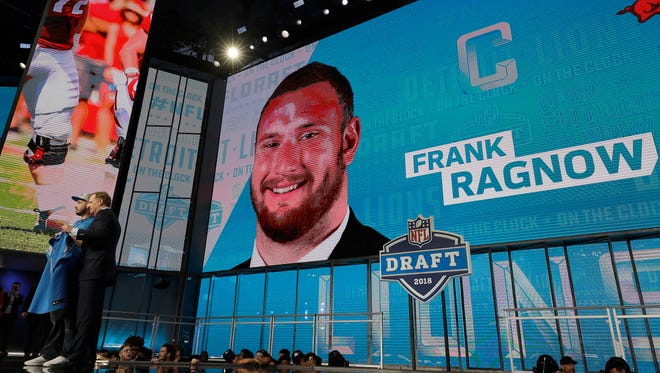 The Lions selected Frank Ragnow with the 20th overall pick Thursday.