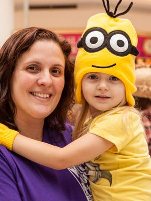 Sarah Greive of Greece, with her daughter Kira, 4, during last year's WalkAbout.