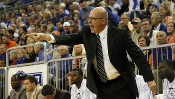 Richard and Arkansas State coach John Brady first met