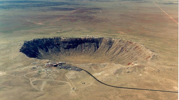 Meteor Crater is the first proven and the best preserved meteorite crater on Earth. It?s 700 feet deep and more than 4,000 feet across.  Meteor Crater Meteor Crater is the first proven and the best preserved meteorite crater on Earth. Credit: Meteor Crater.