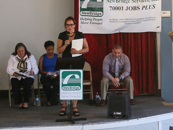 46 young adults from the NewBridge 70001 Jobs PLUS program attended their commencement ceremony at the Boonton Elks Lodge on Thursday, June 19, 2014. Boonton, NJ. Alex Lewis/Daily Record MOR 0619 NEWBRIDGE GRADS