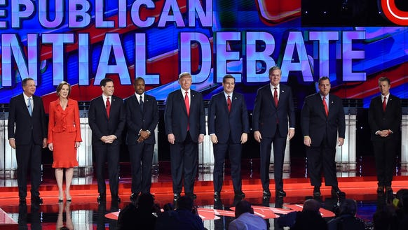 Republican presidential candidates take the stage at