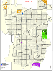 This map shows which local roads were bid on Thursday afternoon and includes possible alternates Cape Coral City Council could approve for repaving.