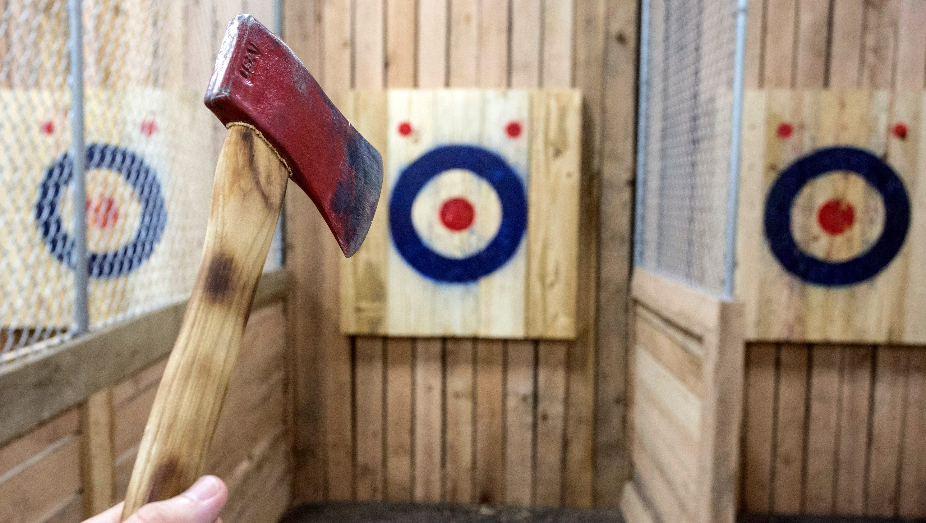 Forget darts. Flying axes sounds like a better bar game, right?