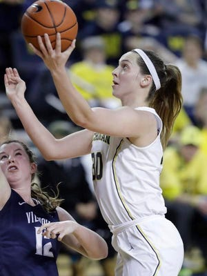 Hallie Thome and the Michigan women's basketball jumped four spots to No. 19 in the AP rankings.