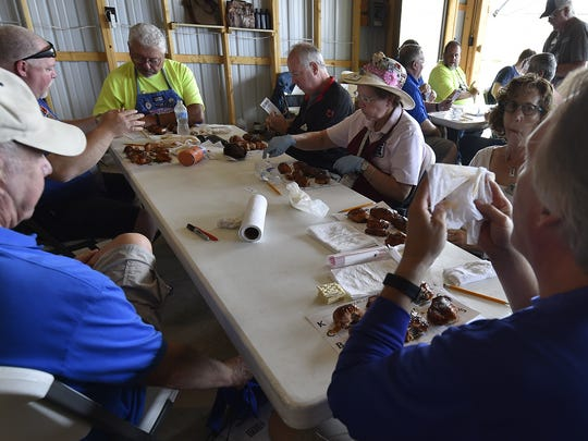 There were 40 certified judges for the two days of competition in chicken, pork, pork rib and beef brisket categories. Plenty of napkins were required. To see more photos and slide show, go to: www.doorcountyadvocate.com.