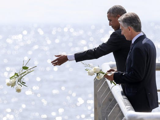 Barack Obama and his counterpart from Argentina Mauricio