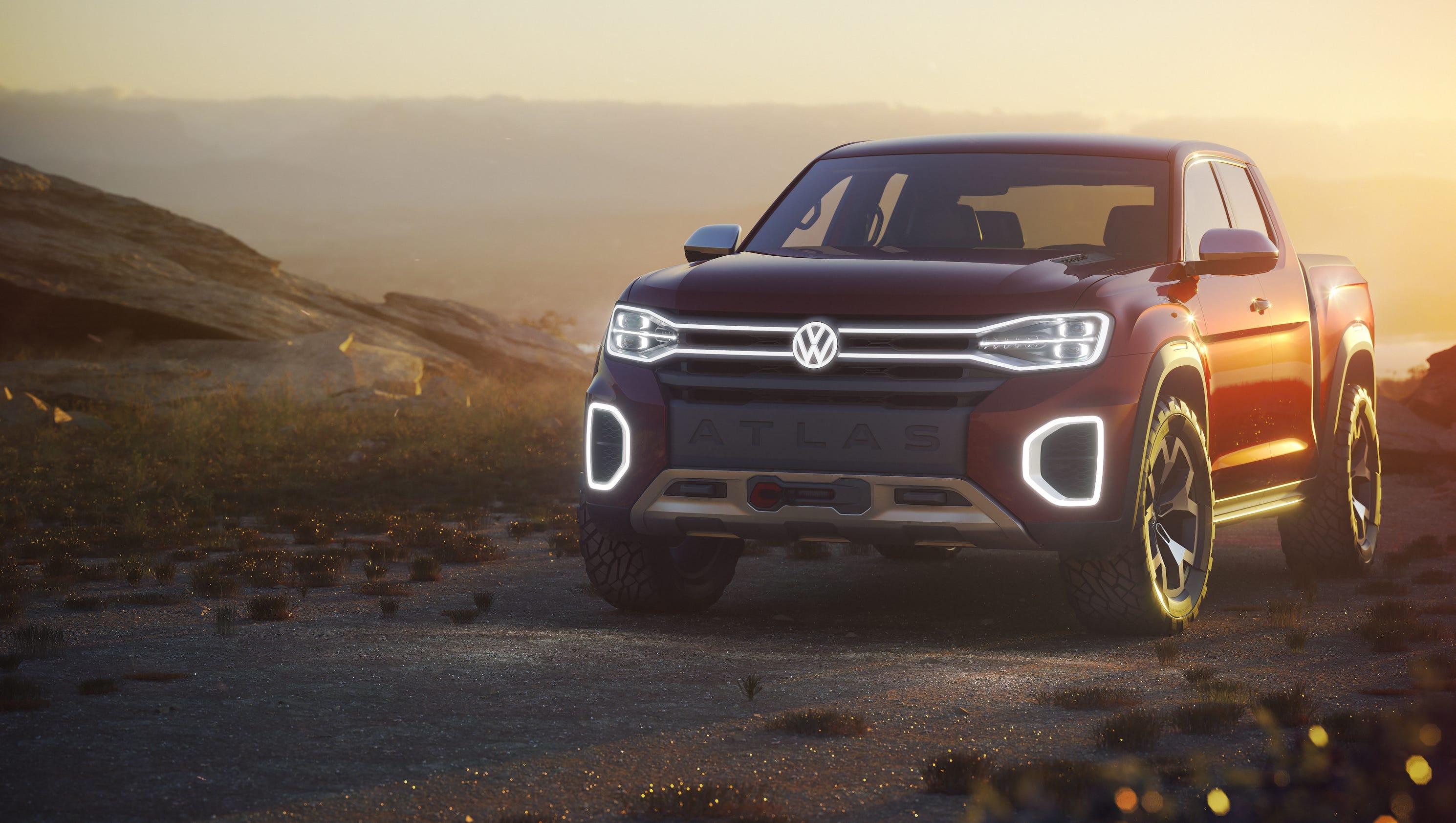 New York Pick Up Truck >> Volkswagen reveals Atlas Tanoak pickup truck