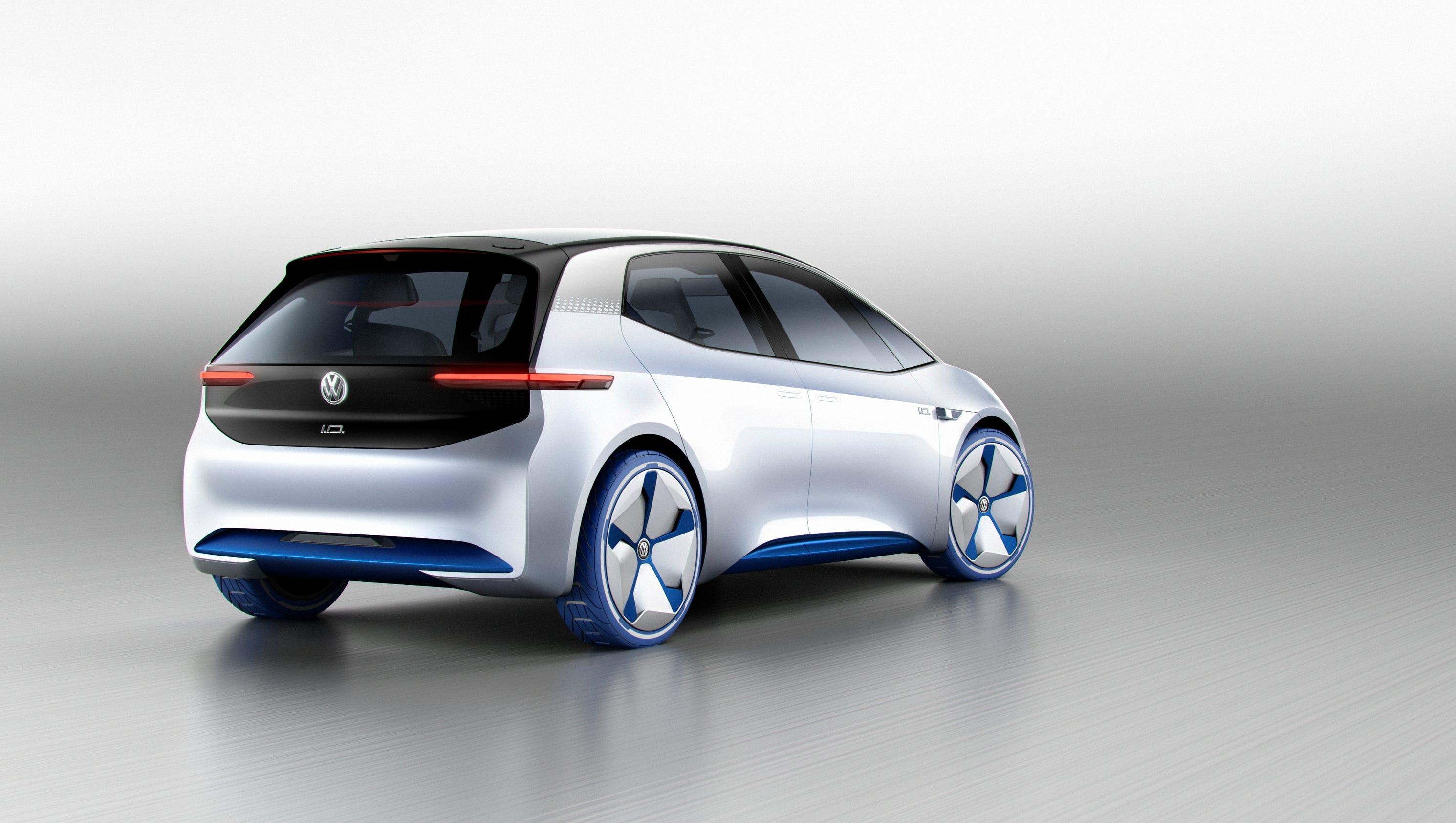 volkswagen i d electric car concept. Black Bedroom Furniture Sets. Home Design Ideas
