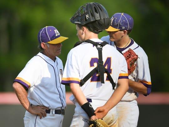 Lipscomb Academy baseball coach Ernie Smith  leads