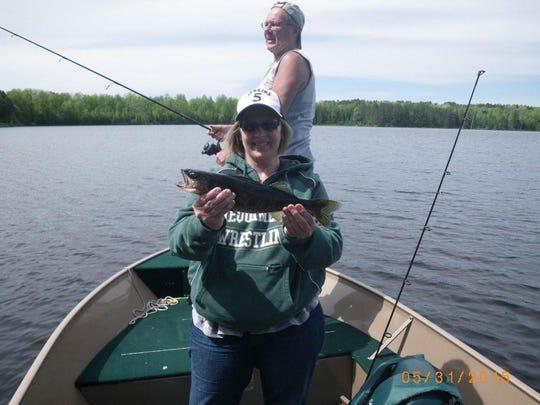 A 15-inch keeper walleye