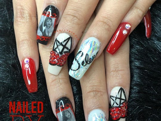 Selena-inspired nail art was created by Lihn Odom at