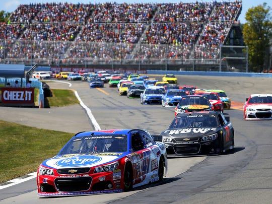AJ Allmendinger leads the field at the start of last