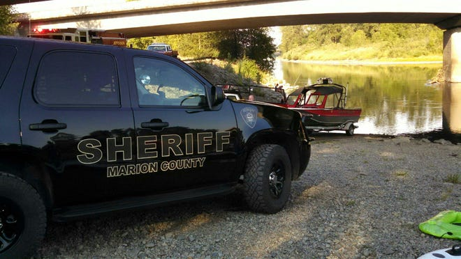 The Marion County Sheriff's Office responds to a swimming accident Saturday near the Santiam River rest stop.