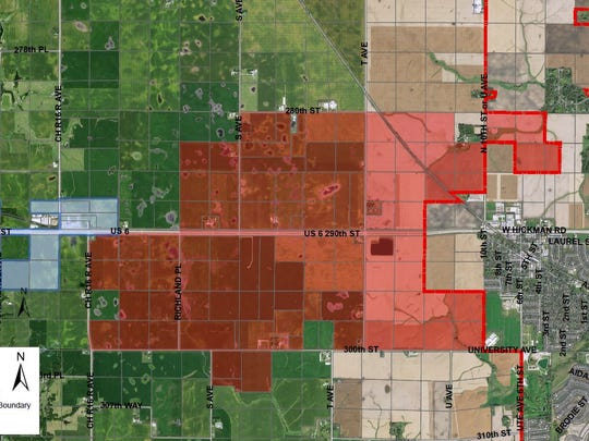 The city of Waukee annexed 3,500 acres of land outside its western city limits in June. A portion of the property will house a new Apple Inc. data center.