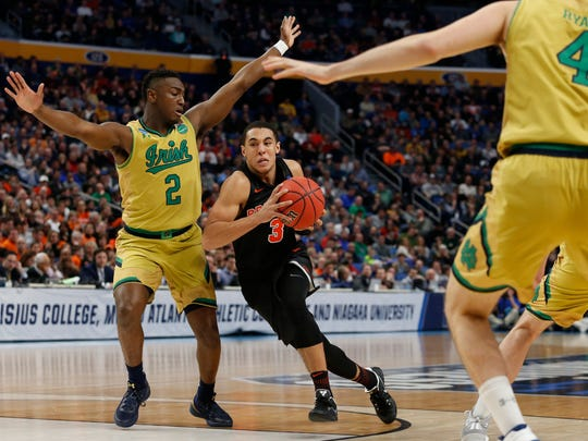 Devin Cannady (3) nearly beat his hometown Notre Dame
