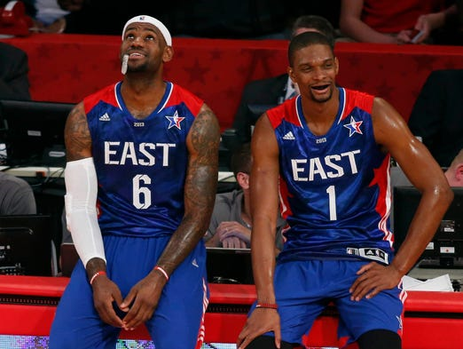 Heat stars LeBron James and Chris Bosh are good bets to represent the Eastern Conference in the 2014 NBA All-Star Game, but who will join them? USA TODAY Sports' Jeff Zillgitt makes his picks.