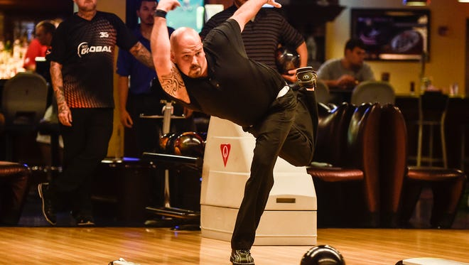 Marion's Andrew Kennedy practices before last year's PBA Greater Marion Central Open at bluefusion. The professional bowling tournament returns Friday through Sunday and is free to the public to watch.