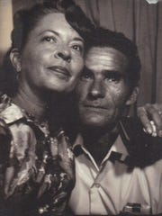 Marjorie Sansom is pictured with her husband, Hershell Fell Sansom in an undated family photo.