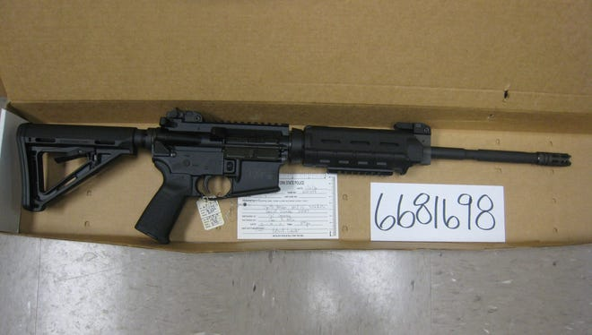This Smith and Wesson M&P 15 is one of more than 100 assualt rifles that  State Police say were sold illegally by Jackson Guns & Ammo