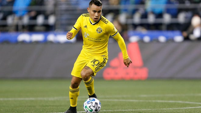Crew midfielder Lucas Zelarayan injured his hamstring on Saturday, Oct. 3, 2020, at FC Dallas. He will miss the next game, and perhaps longer.