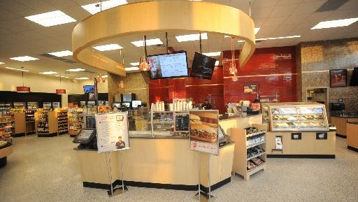 An inside view of a typical Wawa.