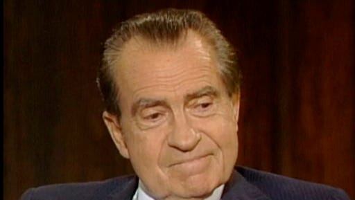 In this frame grab of video made on June 10, 1983  and made available by Raiford Communications, Inc., former president Richard Nixon talks about his 1974 resignation in a series of interviews conducted by former White House aide Frank Gannon in New York City. The Richard Nixon Presidential Library and the privately held Nixon Foundation are co-releasing a trove of videotaped interviews with the  former president to mark the 40th anniversary of his resignation following the Watergate scandal. The 28 minutes of tape, detailing Nixon's personal turmoil in his final week in office, were culled from more than 30 hours of tape recorded in 1983. (AP Photo/Copyright Raiford Communications) IMAGE MAY ONLY BE USED FOR 3 DAYS FROM TIME OF TRANSMISSION; NO ARCHIVING; NO LICENSING. PUBLIC OUT.