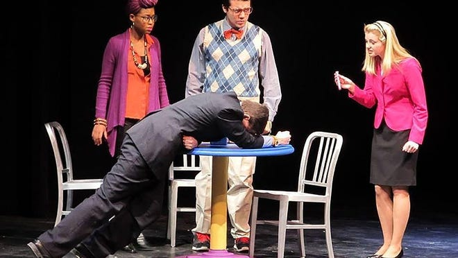 A scene from the ten minute play Just Desserts during the ninth Festival of Ten at the College at Brockport, which ran through March 4.