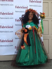 Michayla Douglas of Plainfield dressed as a Forest Queen in Fabricland's  annual Halloween contest.