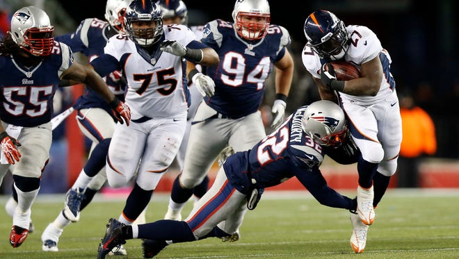 Broncos running back Knowshon Moreno had a career-high 224 yards on Sunday night, but left the game with a bone bruise.