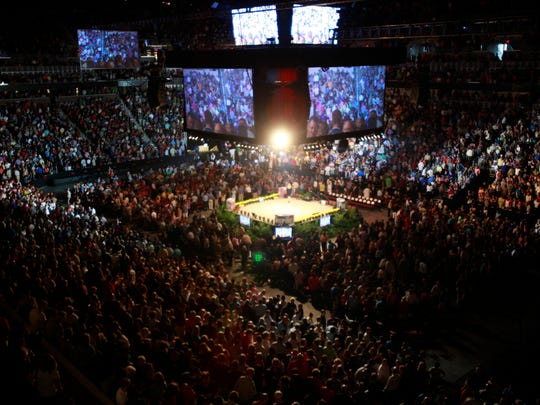 Intrust Bank Arena in Wichita, Kan., was filled to capacity for a Get Motivated! Business Seminar in 2011.