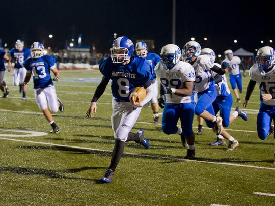 In the 2011 Final Four,  Harper Creek lost to Orchard Lake St. Mary's, 14-10.
